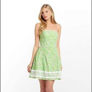 Lily Pulitzer Chomp Chomp Jordan Strapless Dress